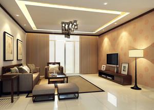 中式客厅深色吊顶设计