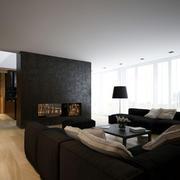 loft风格黑白色客厅沙发装饰