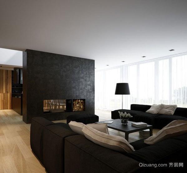 黑白经典loft搭配:现代简约风格公寓设计
