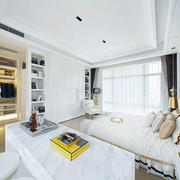 大型卧室简约吊顶装修