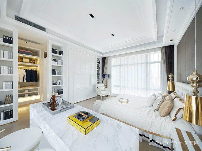 关注睡眠质量:迷人优雅简约的时尚女性卧室装修效果图
