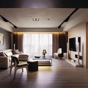 深色系婚房客厅装饰