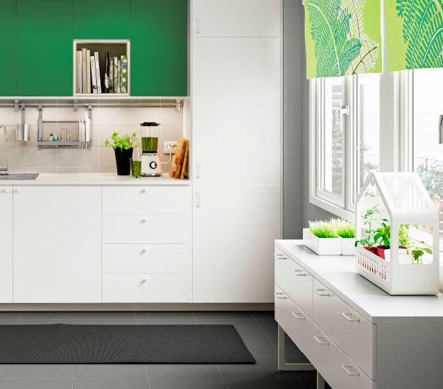 随意自由空间:客厅厨房相通的混搭风格厨房装修效果图