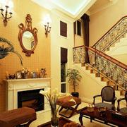 东南亚风格别墅楼梯效果图