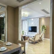 三室两厅简约客厅吊顶设计