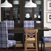 美式原木深色餐厅装饰