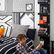 后现代风格卧室置物架设计