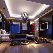 欧式深色系卧室壁纸装饰