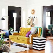混搭风格客厅浅色原木地板
