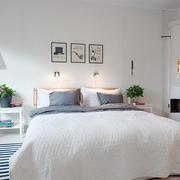 都市风格卧室床头背景墙