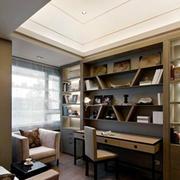 现代简约风格书房飘窗装修