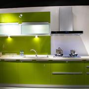 韩式果绿色清新橱柜设计