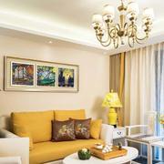 明亮色婚房客厅设计