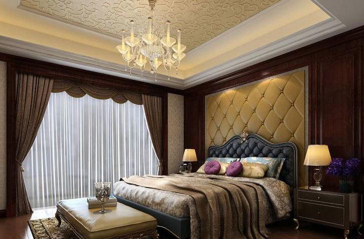 舒适度极好:大户型经典卧室床头软包背景墙装修效果图鉴赏