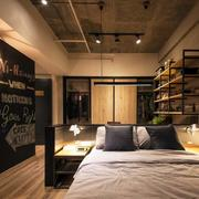 复式楼简约风格卧室置物架设计