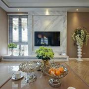 三室两厅客厅电视背景墙设计