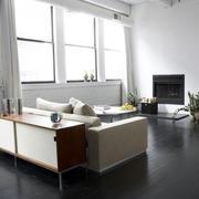 后现代房屋客厅窗户装饰
