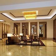 中式古韵客厅隔断装饰