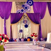 紫色婚礼舞台设计