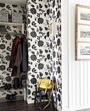 80平米黑白花纹的文艺小资一居室装修效果图