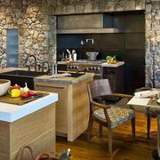 混搭风格开放式厨房效果图