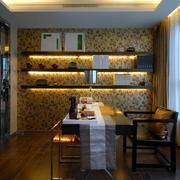 欧式风格书房背景墙设计