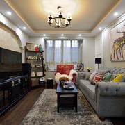 美式婚房客厅吊灯设计