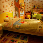 儿童房暖色系背景墙