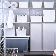 简约纯白色洗衣房效果图