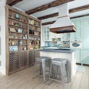 公寓原木开放式厨房装饰