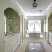 欧式大型别墅卫生间整体梳妆柜