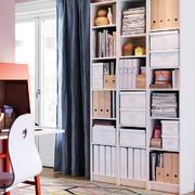 欧式简约风格书房白色书柜装饰