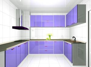 韩式风格浅紫色橱柜装饰