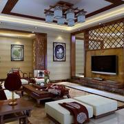 中式客厅古意电视背景墙