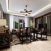 中式客厅地板装饰