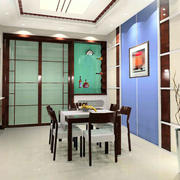 新房新中式风格餐厅背景墙