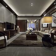 新中式简约风格新房客厅吊顶装饰