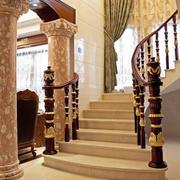 欧式奢华风格楼梯效果图