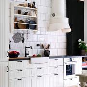 欧式田园风格厨房橱柜装饰