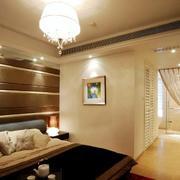 三室一厅卧室床头背景墙