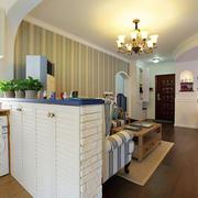 地中海风格客厅原木地板装饰