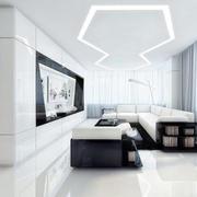 后现代风格别墅不规则客厅吊顶设计
