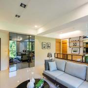 别墅简欧风格客厅地板装饰
