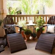 美式风格别墅花园桌椅效果图