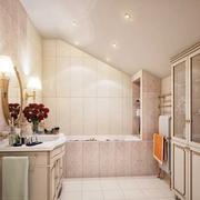 简欧风格斜顶卫生间设计