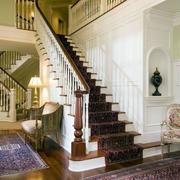 简约风格原木楼梯设计