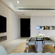 新房简约原木制电视背景墙