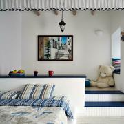 地中海风格清新儿童房榻榻米装饰