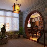 中式花园拱形门装修