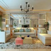 欧式简约风格客厅地板装饰